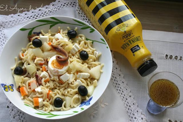 ensalada de fideuá,ensalada de pasta,vinagretas