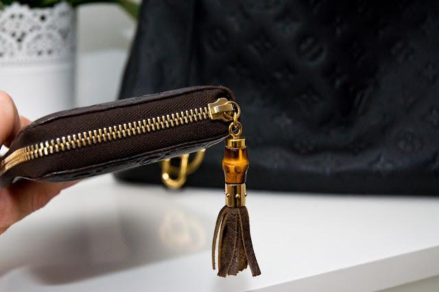 logowany, skórzany portfel Gucci