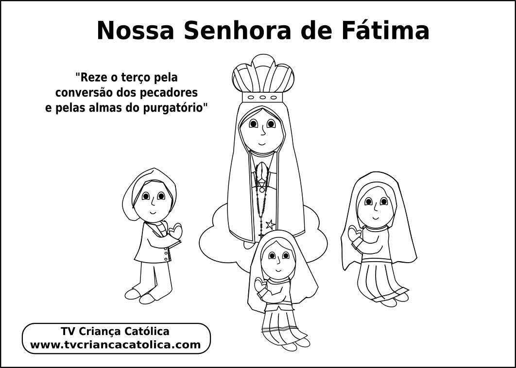 Desenho Para Pintar Nossa Senhora De Fatima