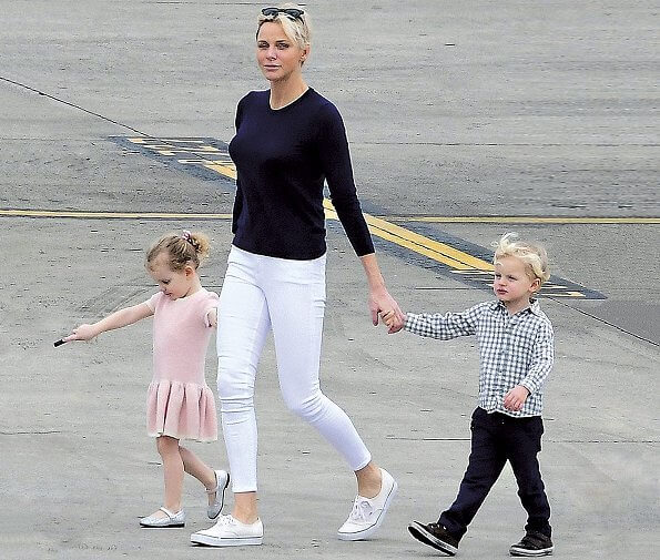 Prince Albert, Princess Charlene and their twins Princess Gabrielle and Prince Jacques had a holiday in Lesser Antilles (also known as the Caribbees)