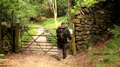 The entrance to Brackenfell Woods, Grasmere