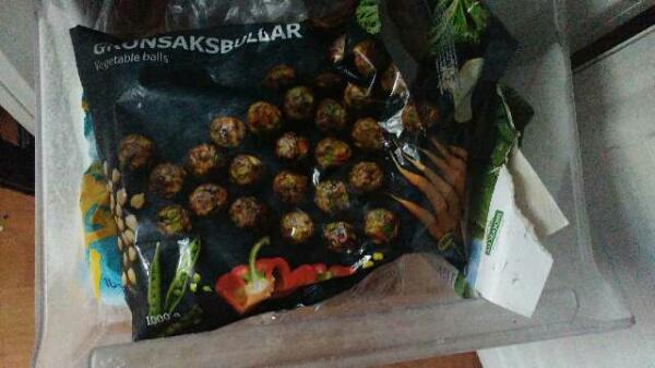 Vegetarische ballen van de IKEA
