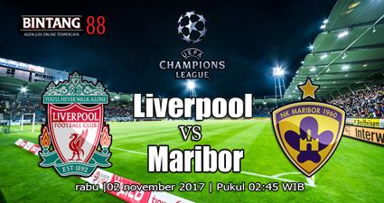 Prediksi Liverpool Vs Maribor 02 November 2017, Prediksi Skor Liverpool Vs Maribor, Bursa   Taruhan Liverpool Vs Maribor, Prediksi Bola Liverpool Vs Maribor, Rencananya mereka akan   berhadapan pada 2 November pukul 02:45 dini hari WIB.