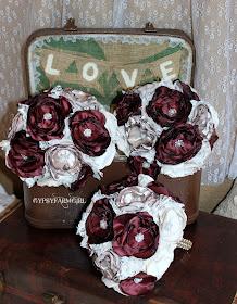 satin flower bridesmaid bouquets