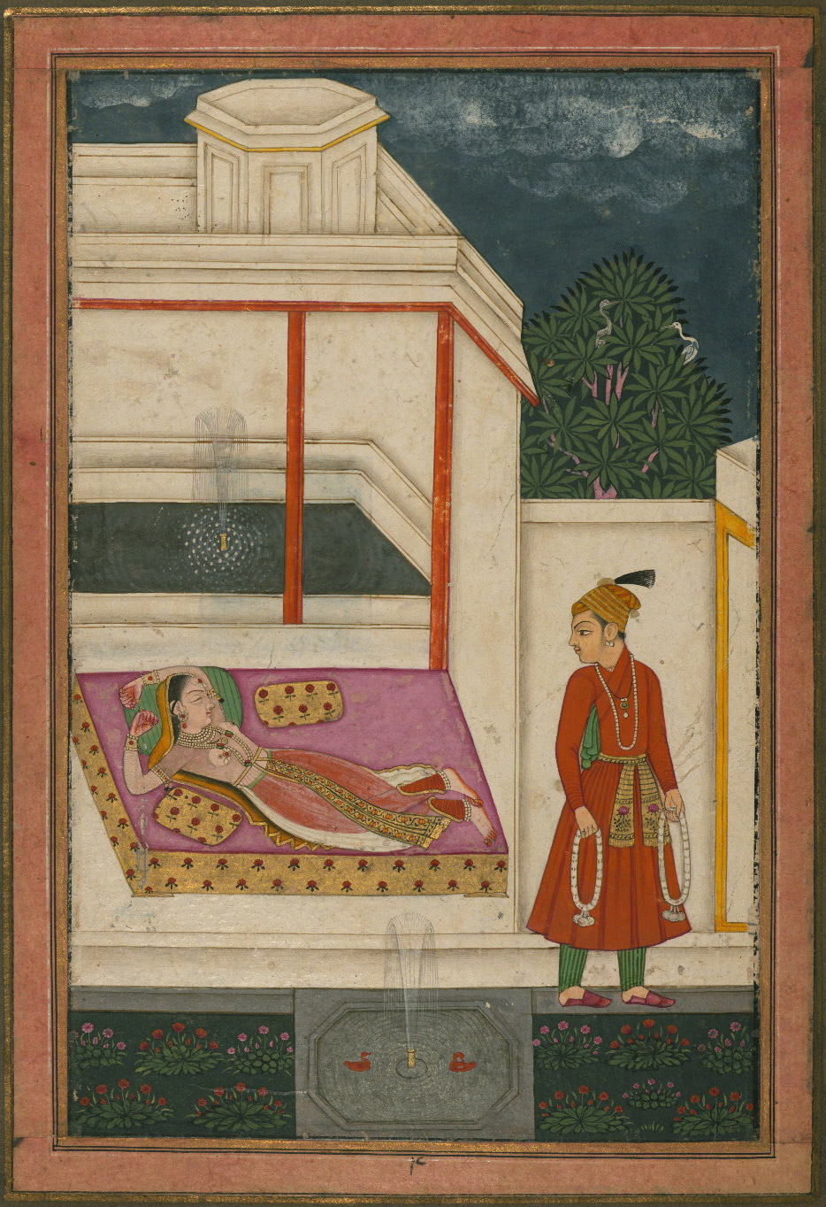 Lalita Ragini - Miniature Painting, Deccan School, Ragamala Series, 19th Century