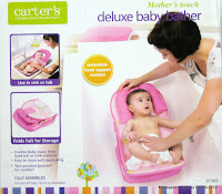 1 Carter's Mother's Touch #07360 Deluxe Baby Bather with Removable Head Support Cushion