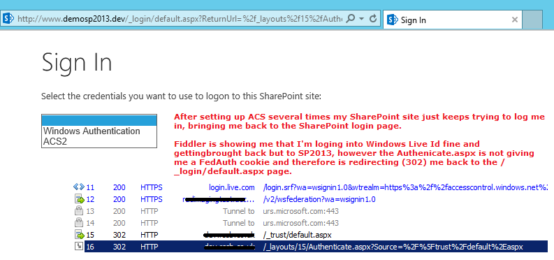 my sharepoint notes sharepoint 2013 on prem using windows live id