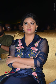 Actress Keerthi Suresh Stills in Blue Long Dress at Nenu Local Audio Launch  0047.JPG