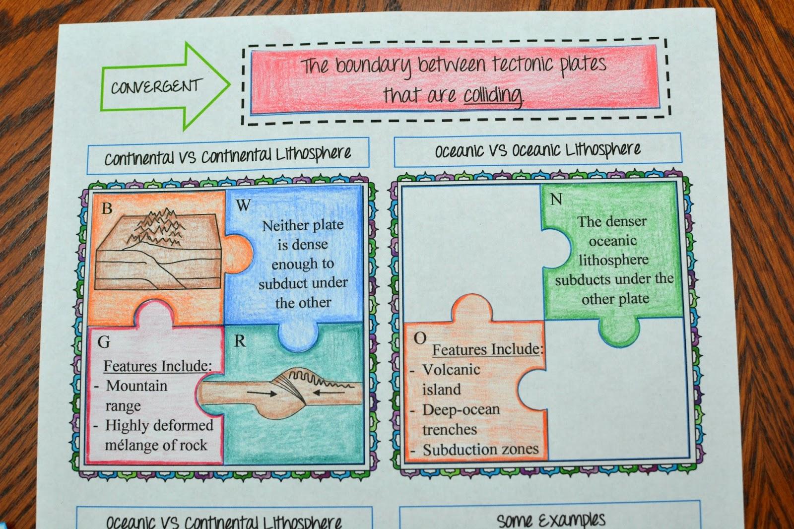 Science Plate Tectonics Worksheet