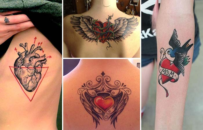 Kalp dövme modelleri heart tattoo types