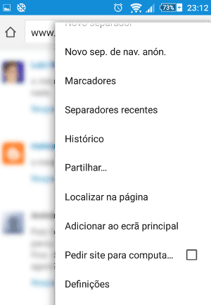 Como mudar página inicial do Google Chrome - Android