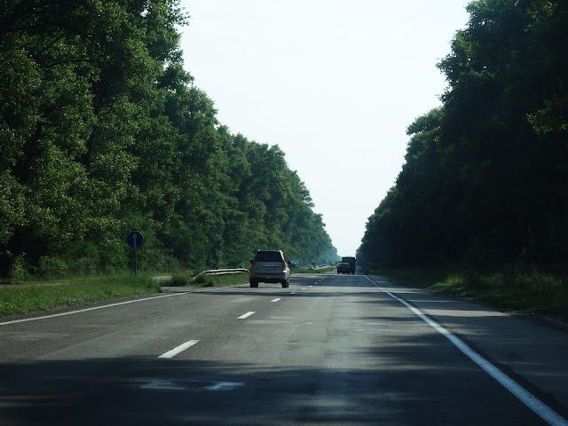 Droga Czernihów-Senkiwka (granica). Sierpień 2016.