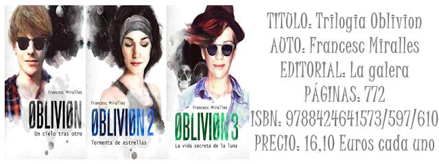 Reseña: Trilogía Oblivion
