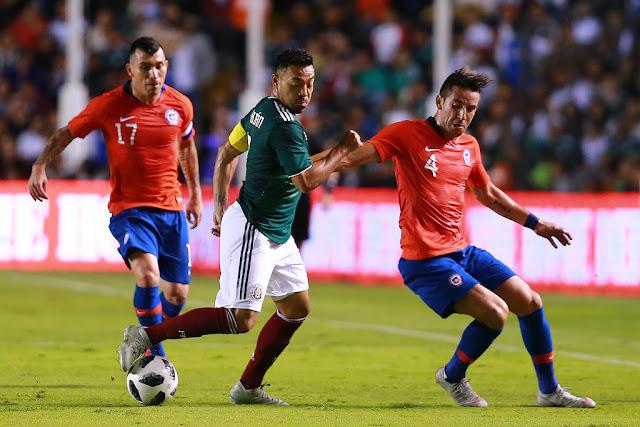 México y Chile en partido amistoso, 16 de octubre de 2018