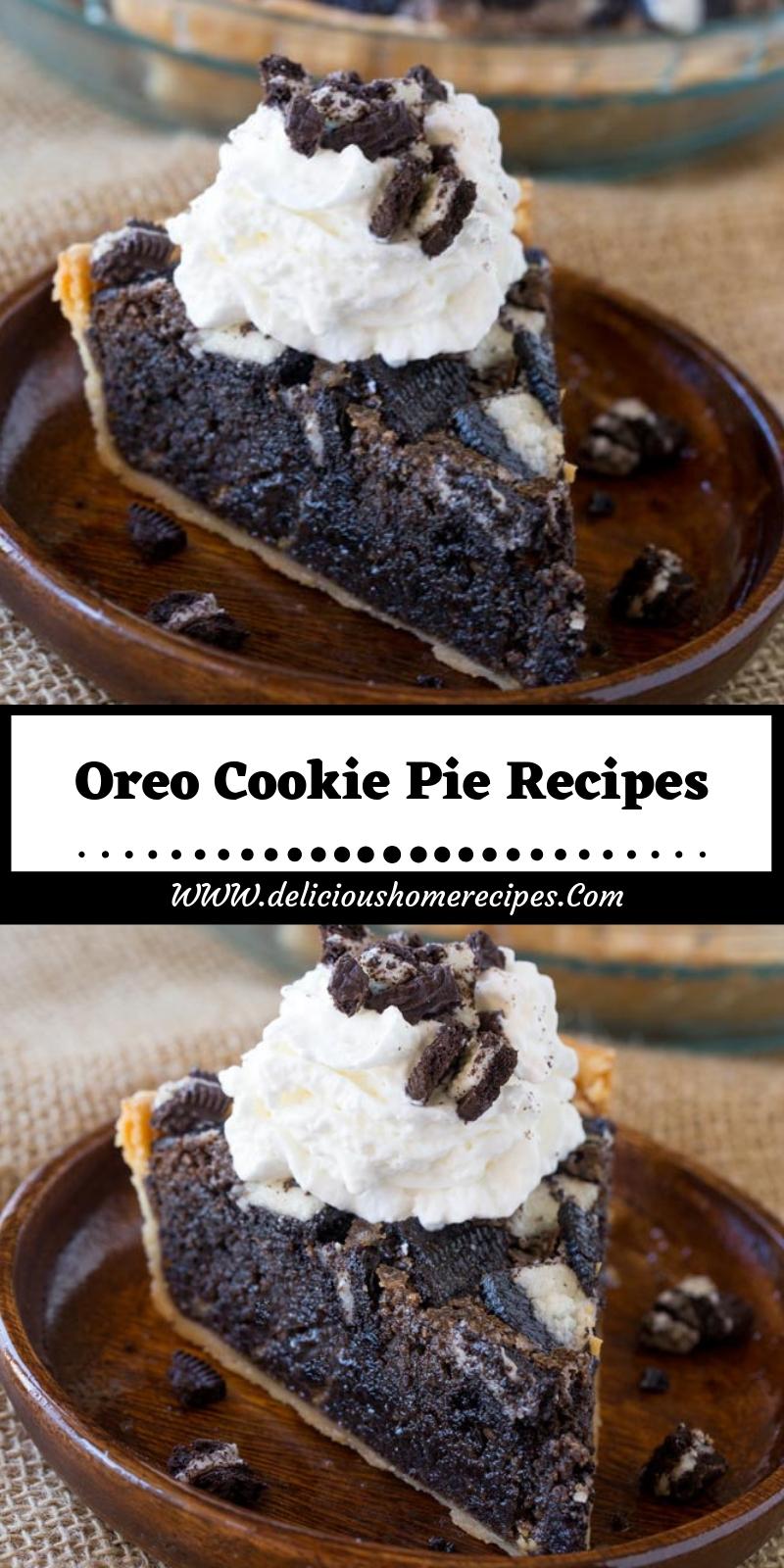 Oreo Cookie Pie Recipes