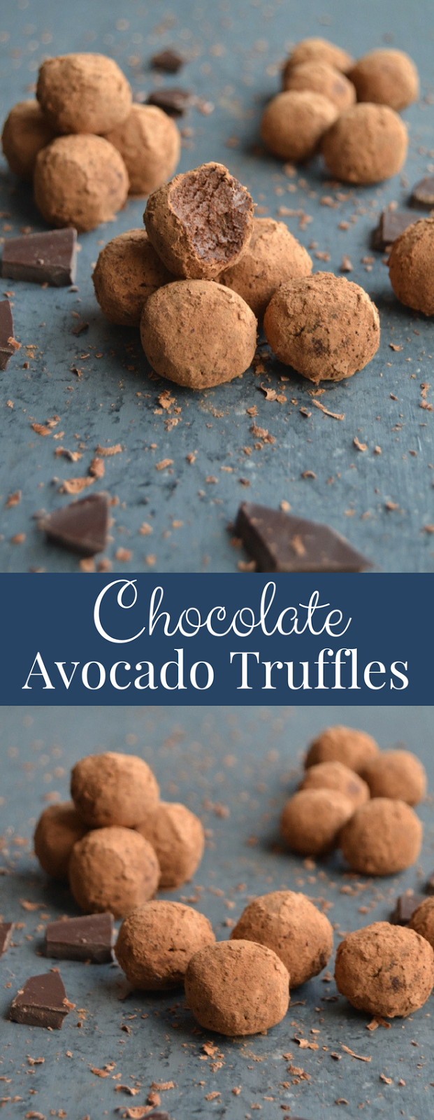 Chocolate Avocado Truffles contain just 4-ingredients and make the perfect snack or dessert. You won't even notice that these rich and creamy truffles are healthier! www.nutritionistreviews.com