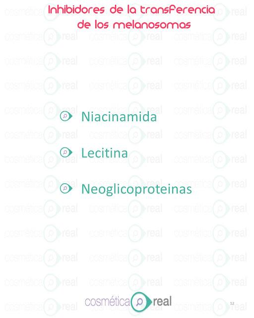 Inhibidores de la transferencia de los melanosomas