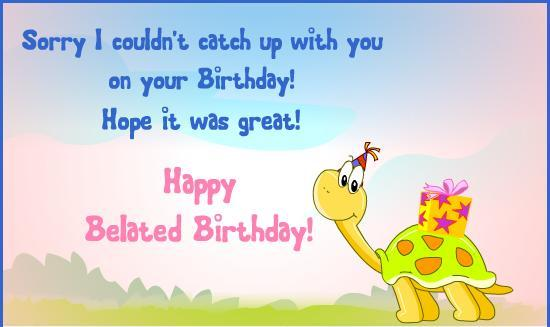Happy Belated Birthday HD Wallpapers Free Download