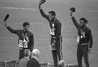 Image result for 1968 olympics black athletes