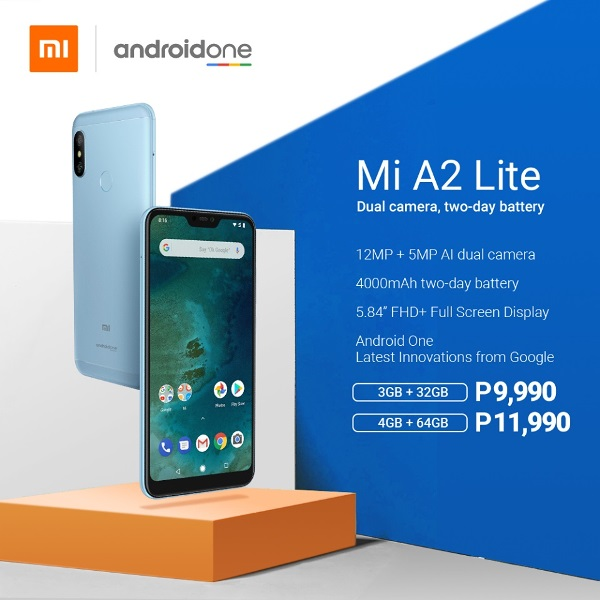 Xiaomi Mi A2 Lite Announced; 19:9 Display, SD 625, AI Cameras, and 4000mAh Battery for Php9,990!