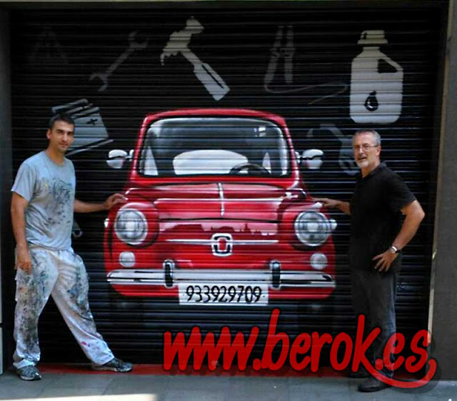 Grafitis en persianas coche 600