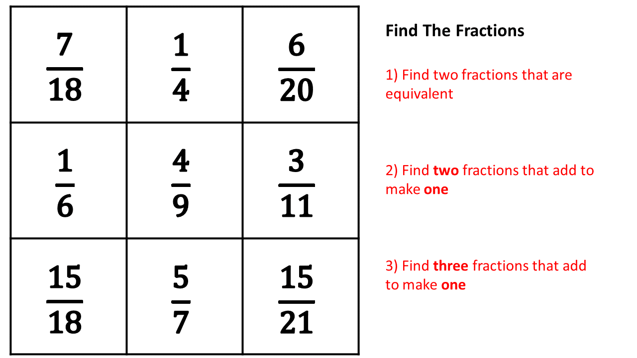 Maths With Friends: Fraction Finding - Mastery Exercise