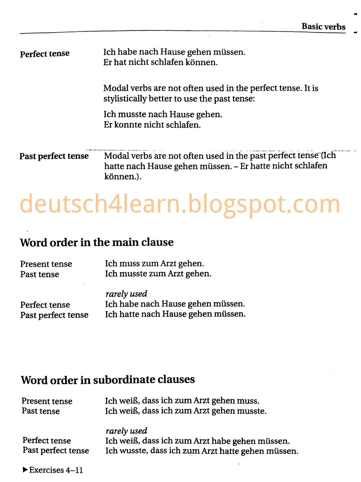 Können - Dürfen - Müssen - Sollen - Wollen - Mögen -Use of Modal Verbs in German Language