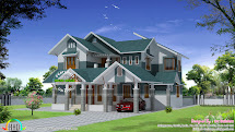 Modern House Design with Sloping Roof