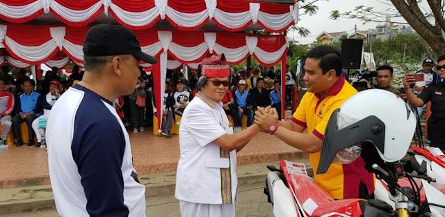 Wah! Polres Tana Toraja Dapat Bantuan 7 Unit Motor Honda CRF dari Pemda Tana Toraja