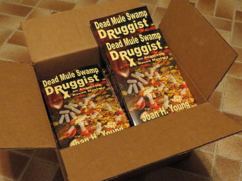 carton of Dead Mule Swamp Druggist books