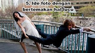 Ide foto dengan bertemakan hal lucu seperti si pria dipaksa menikah