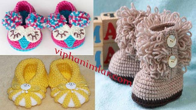 Bebekler İçin Ayakkabı Şeklinde Patik Modelleri