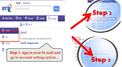 setup Auto-Forward in bt mail