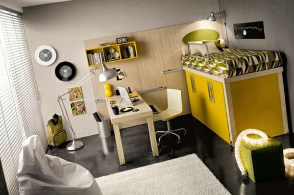 Habitaciones juveniles para espacios peque os ideas para decorar dormitorios - Dormitorios juveniles espacios pequenos ...