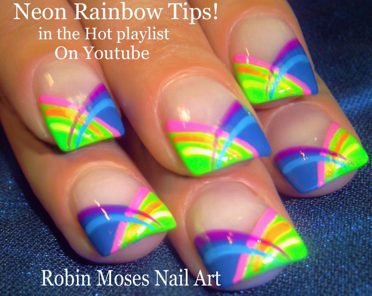 Nail Art by Robin Moses: Hot Summer Nail Art Ideas full of Neon ...