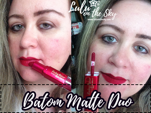 Batom Matte Duo  HB8606 cor 262 - Ruby Rose