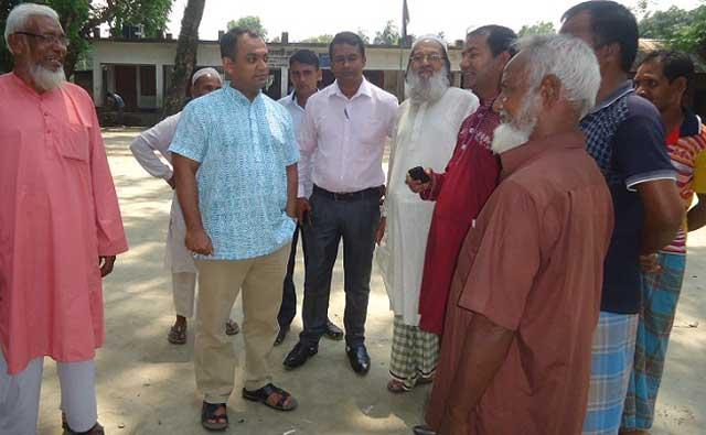 Bakshiganj MP candidate Barrister Swami Sattar's mass contact