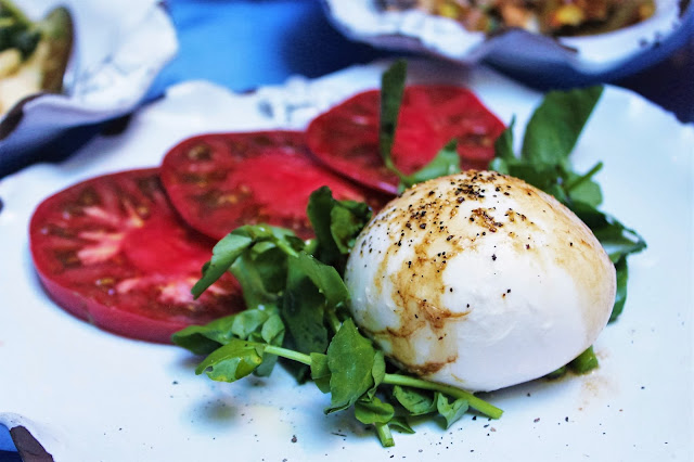 Burrata and Tomatoes at Palma