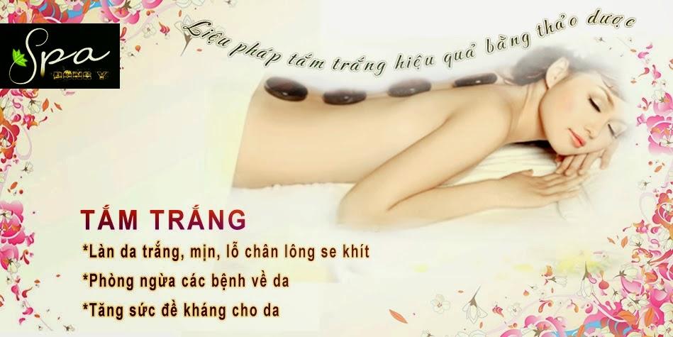 Tắm trắng tại Trung tâm da liễu Spa đông y Việt Nam