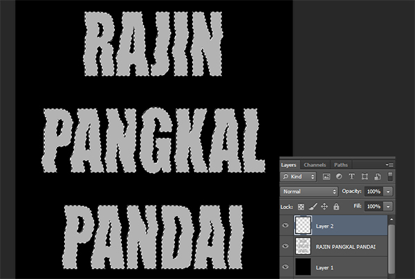 membuat poster di photoshop, tutorial teks efek