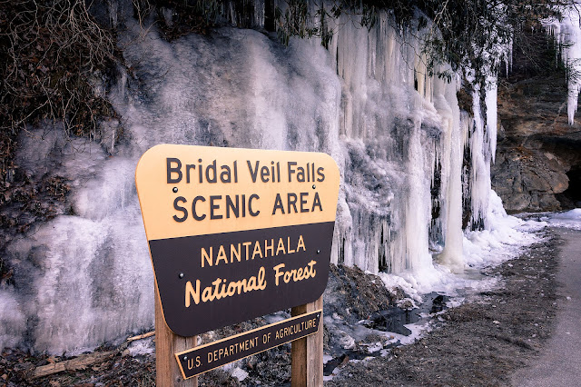 Frozen Bridal Veil Falls