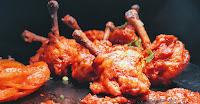 Crisp Goldren Tandoori chicken lollipop pieces recipe