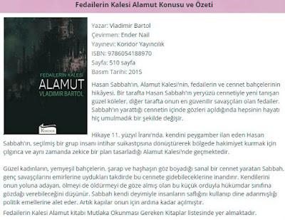 Vladimir Bartol - Fedailerin Kalesi Alamut özet, yorum, yazarı, serisi