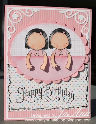 Crafty Nana Blog Happy Birthday Jpg 309x400 Cards For Twins