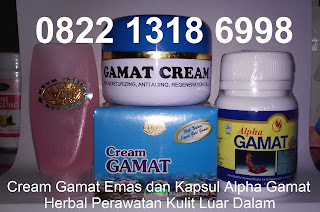 cream perawatan wajah alami Gamat Gold pemutih penghilang jerawat