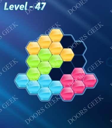 Block! Hexa Puzzle [Rainbow A] Level 47 Solution, Cheats, Walkthrough for android, iphone, ipad, ipod