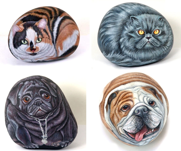 animal painted rocks