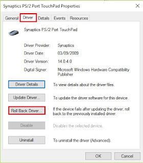 scroll touchpad laptop tidak bisa berfungsi