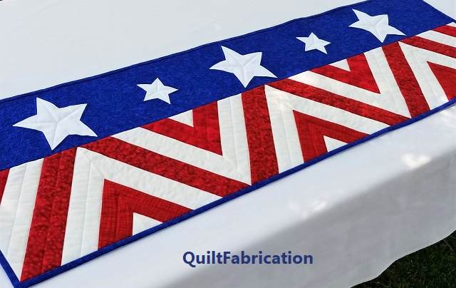 Salute Fourth of July runner by QuiltFabrication