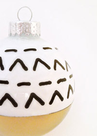 DIY Tribal Patterned Ornament